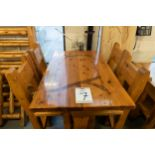 4' WHITE PINE HIGH TOP BAR TABLE WITH 4 CHAIRS L-48'' W-30'' H-41''