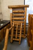"""2 WHITE PINE RAILING SECTIONS WITH ONE HAND RAIL SECTION. RAILINGS H-37"""" L- 65''"""