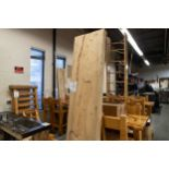 UN-FINISHED WHITE PINE BAR TOP SECTION WITH IN-LAY (COME WITH 2@1G CLEAR EPOXY AND 2 @ 1G HARDNER) -