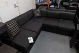"""OUTDOOR FAUX WICKER 4 SECTION COUCH H- 28.5'' D-42"""" L- 137''"""