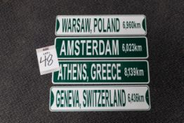 8 EUROPEAN CITY DESTINATION SIGNS