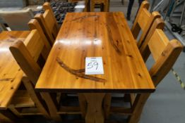 "4' WHITE PINE HIGH TOP BAR TABLE WITH 4 CHAIRS L-48"" W-30"" H-41"""