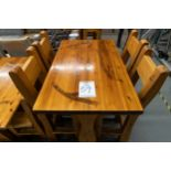 """4' WHITE PINE HIGH TOP BAR TABLE WITH 4 CHAIRS L-48"""" W-30"""" H-41"""""""