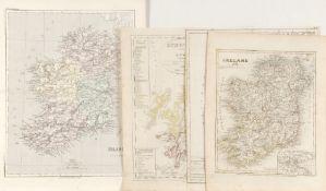 """Landkarten, 4 Stück """"Irland und Schottland""""<"""