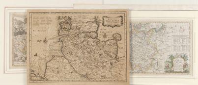 Landkarten, 4 Stück - Europäische Gebiete<b