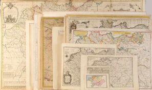 """Landkarten, ca. 20 Stück """"Deutschland""""<"""