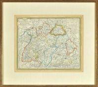 """Landkarte """"Charte vom Koenigreich Baiern"""""""
