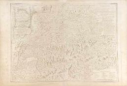 """Landkarte """"Carte de la Suisse"""""""