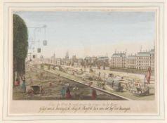 Paris, Vue du Pont Royal prisse du Cours de la Reine