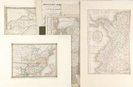 Landkarten, 8 Stück<