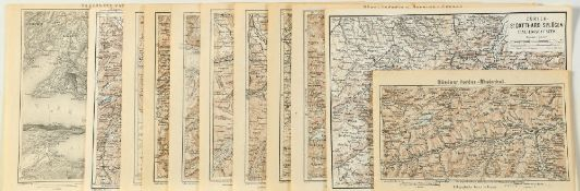 """Landkarten, 11 Stück """"Schweiz"""""""