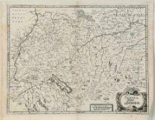 """Landkarte """"Suevia, Tafel Schwaben"""""""