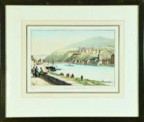 Heidelberg, Blick auf das Schloss vom Neckar aus