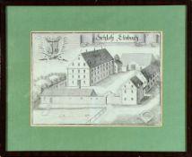 Oberellenbach, Ansicht von Schloß Elnbach