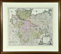 "Landkarte ""Saxoniae Inferioris Circulus (Niedersachsen)"""