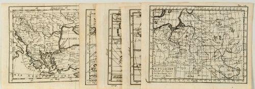 Landkarten, 7 Stück