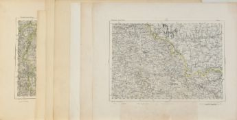 """Landkarten, 7 Stück """"Reymann's Special-Karten - Frankreich"""""""