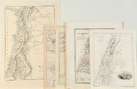 "Landkarten, 5 Stück ""Israel und Palästina"""
