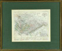 """Landkarte """"Sachsen, die Staaten Thüringen und benachbarte Länder"""""""