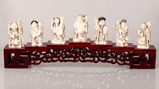 Seven Old Immortals, Made of Bone - China