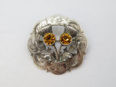 Scottish HM brooch in silver