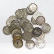 Silver threepence pieces 51g