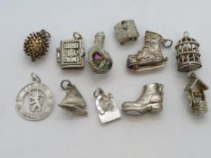 Collection of 10x silver charms 38g