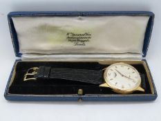 Gent's boxed 18ct oversized watch 38mm face from lug to dial - excellent working condition