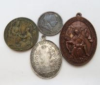Silver coins and pendants 56g