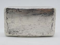 Heavy Russian engraved snuff box Russian 84HM 66g - lots of surface wear