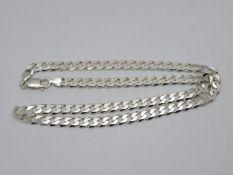 """HM 20"""" silver curb link chain 29.5g"""