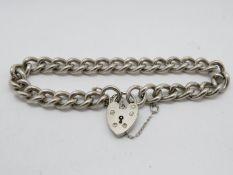 Silver bracelet with padlock 34g
