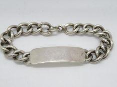 ID silver bracelet fully HM 64g