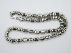 "Designer solid silver necklace - very heavy - approx 3oz silver 18"" 89g"