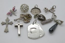 34g silver HM charms
