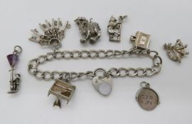 Collection of charms and bracelet 33g