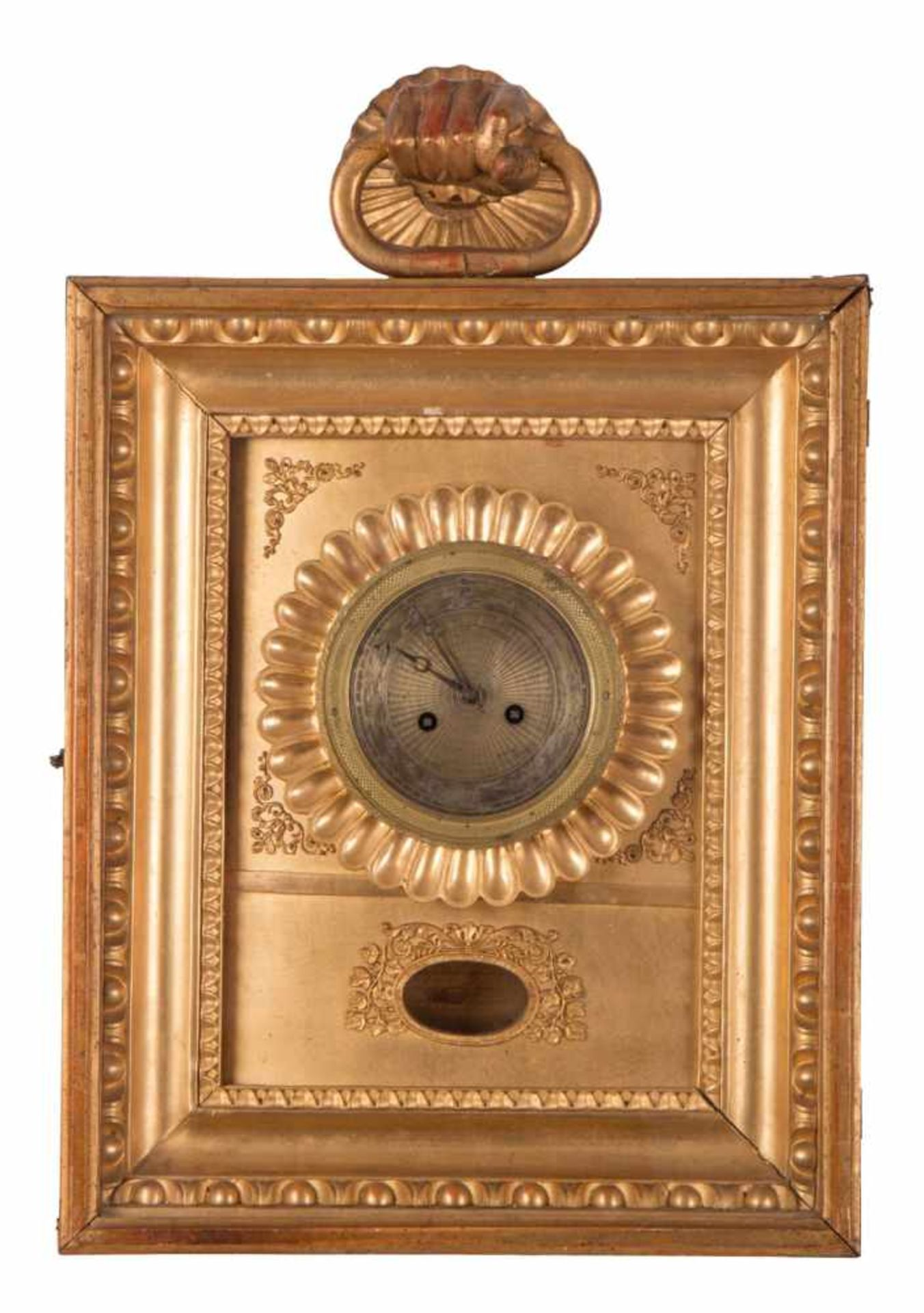 Los 74 - Frame clockBiedermeier frame clockVienna around 1830 | H 41 x W 34 x D 12 cm | Inscribed: ALOIS