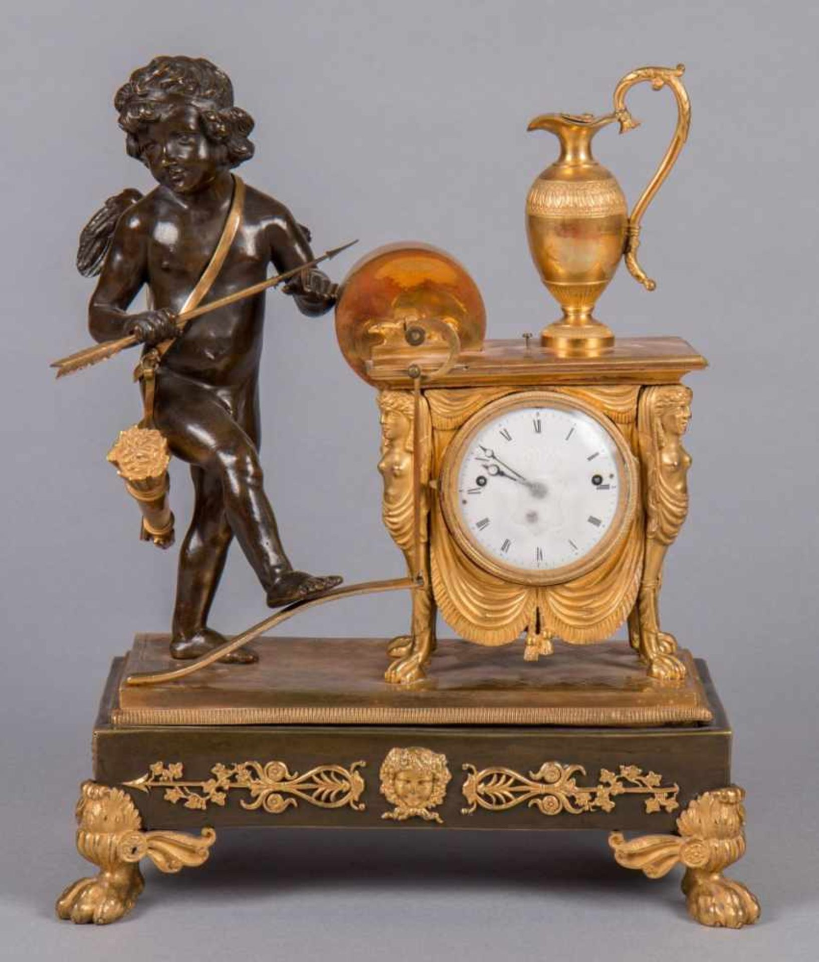 Los 59 - Vienna Empire ClockVienna Empire ClockVienna around 1830 | H 35 cm Fire-gilded and patinated