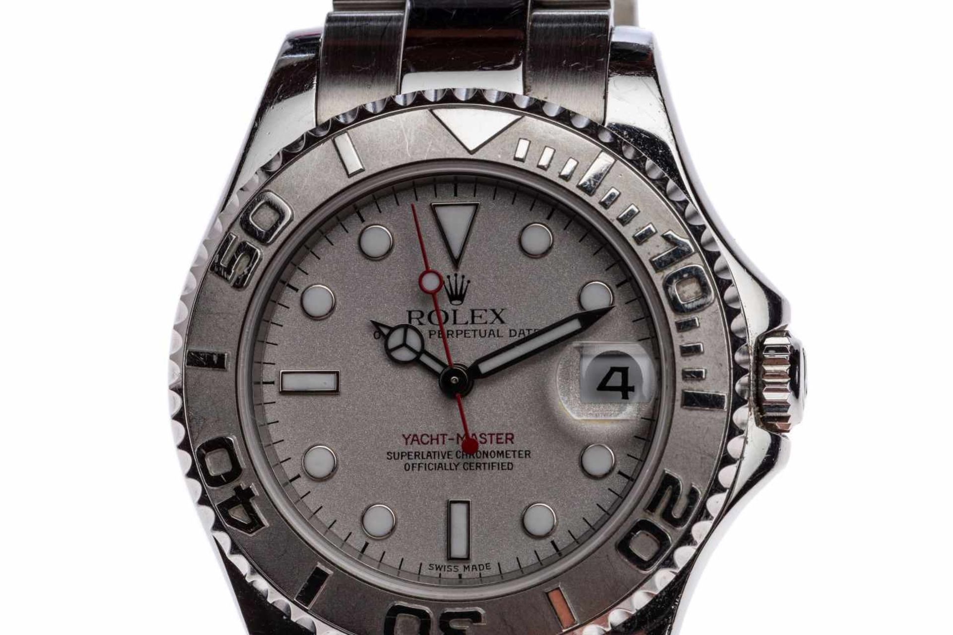 Los 32 - Rolex Yacht Master MediumSteel / Platinum Yacht Master Reference 168622, automatic movement, case
