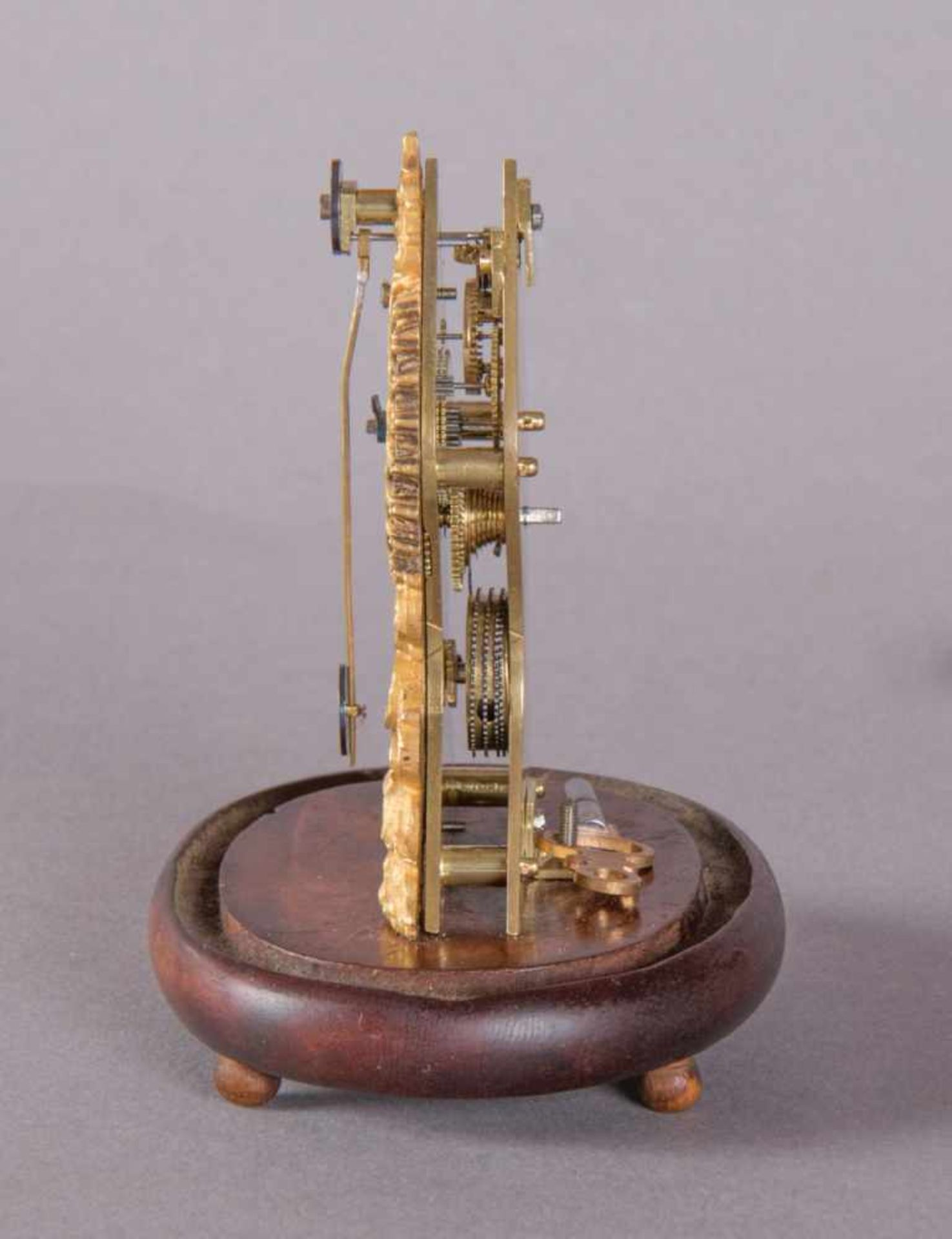 Los 70 - fire-gilded fidgetFidget Clockaround 1830 H 9.5 cm x W 8 x D 6.5 cm fire-gilded and cast case,