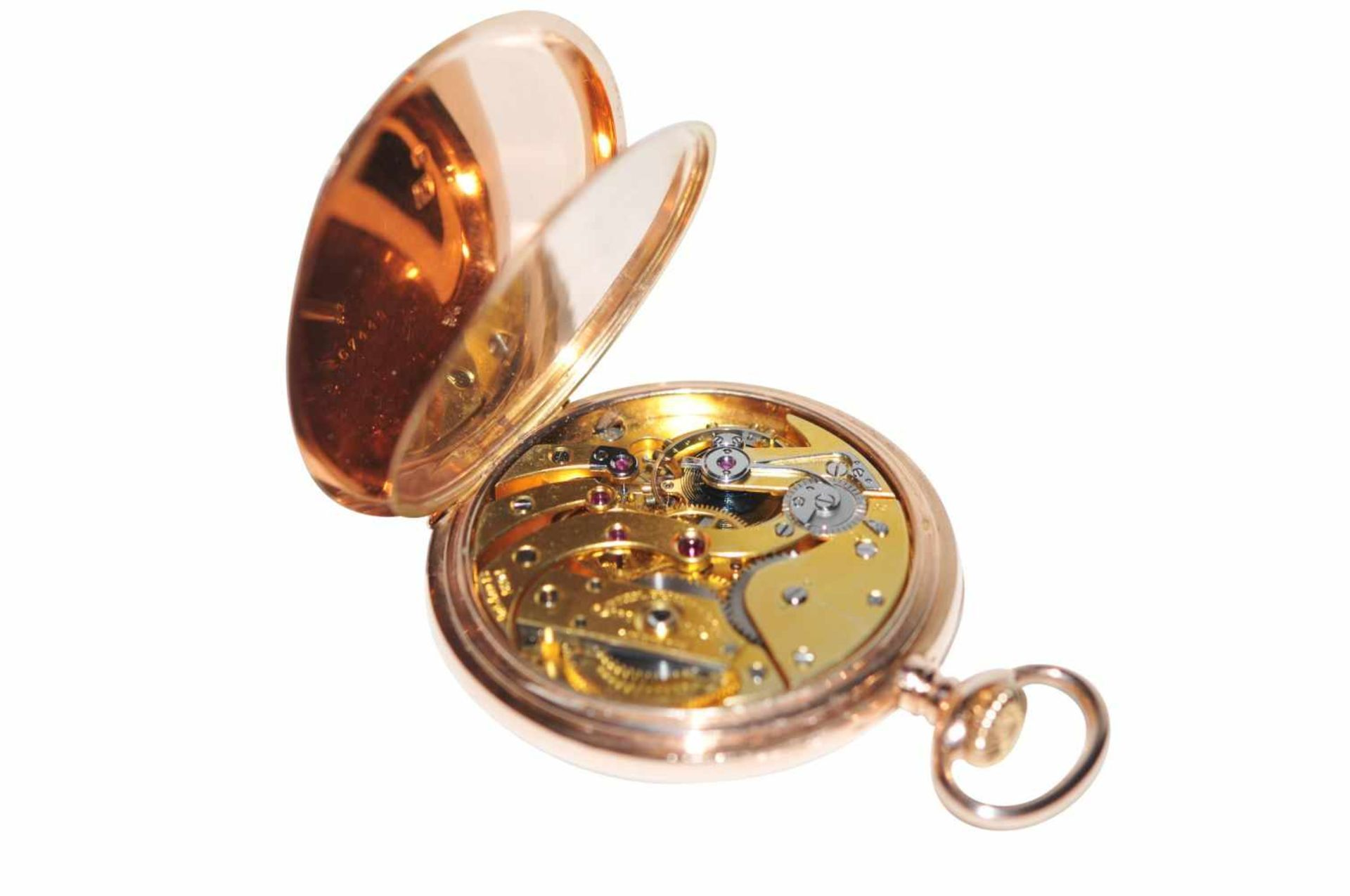 Los 83 - Patek Philippe LepineLepine pocket watch in 14K gold with 2nd cover signed Patek Philippe with
