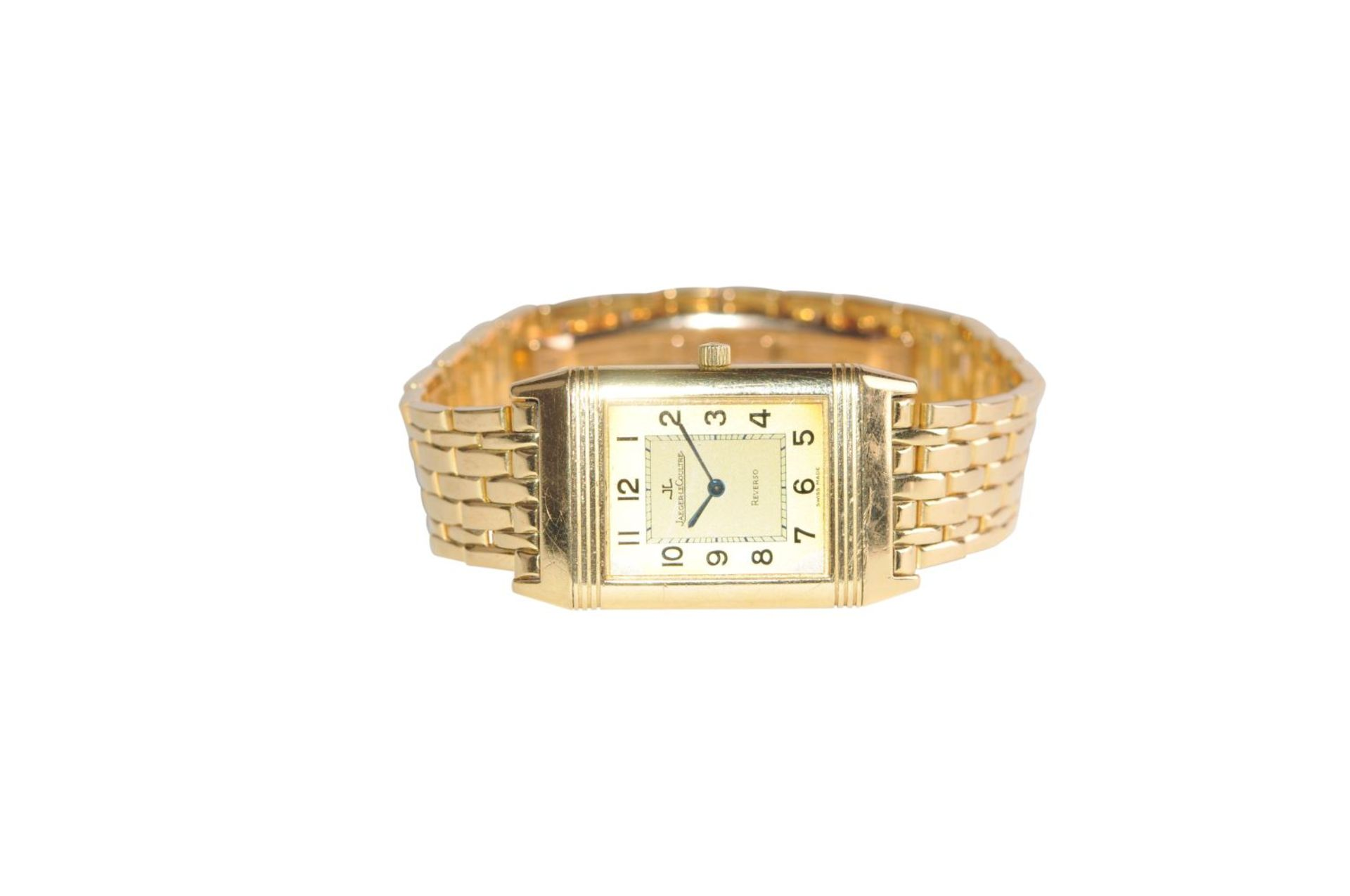 Los 4 - JAEGER LE-COULTRE ReversoJaeger Le Coultre Reverso with gold bracelet, Classic Medium model with
