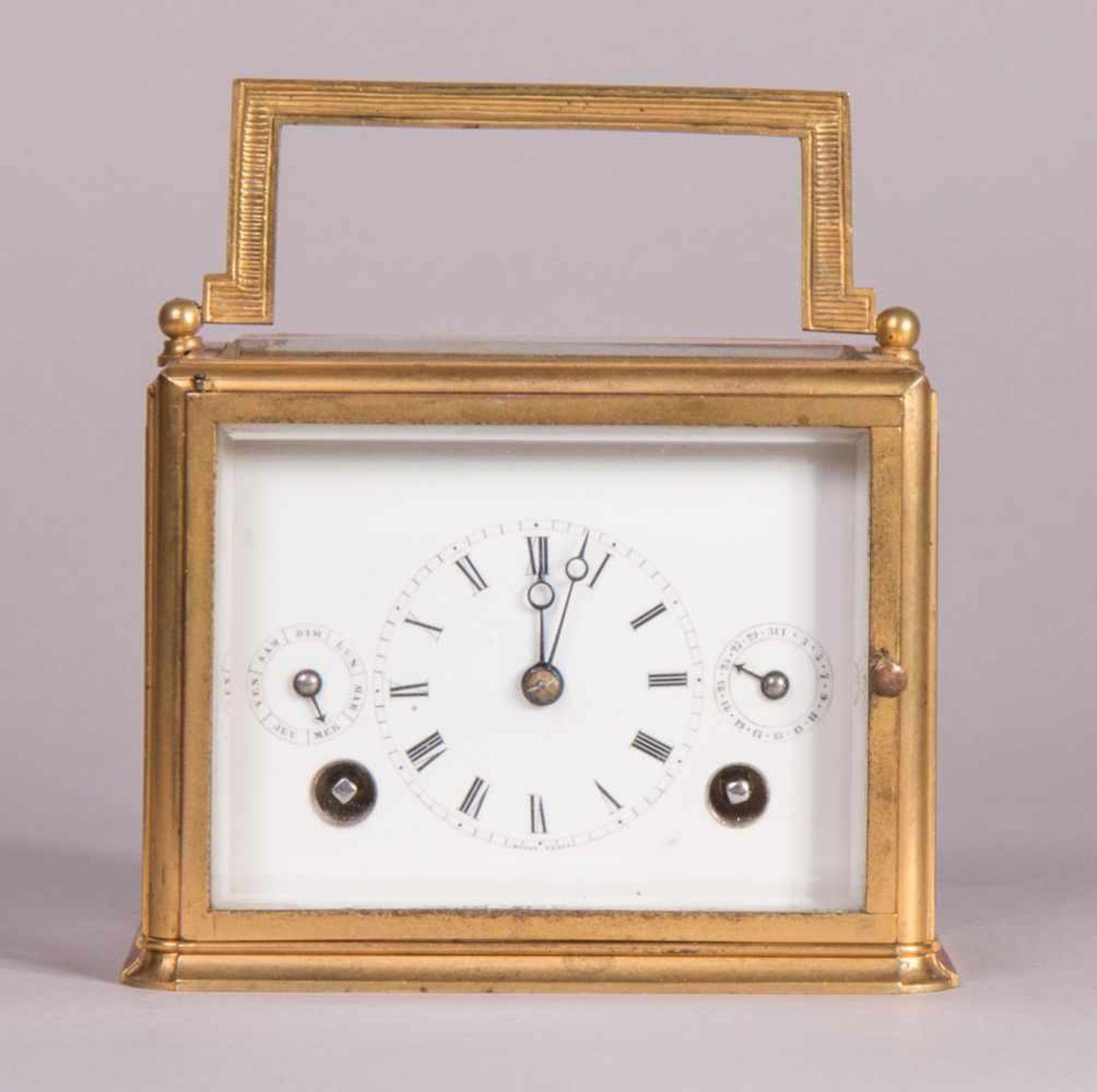 Los 61 - extremely rare travel clock 1805 Schaffhausen by Heinrich MoserTravel clock with original case