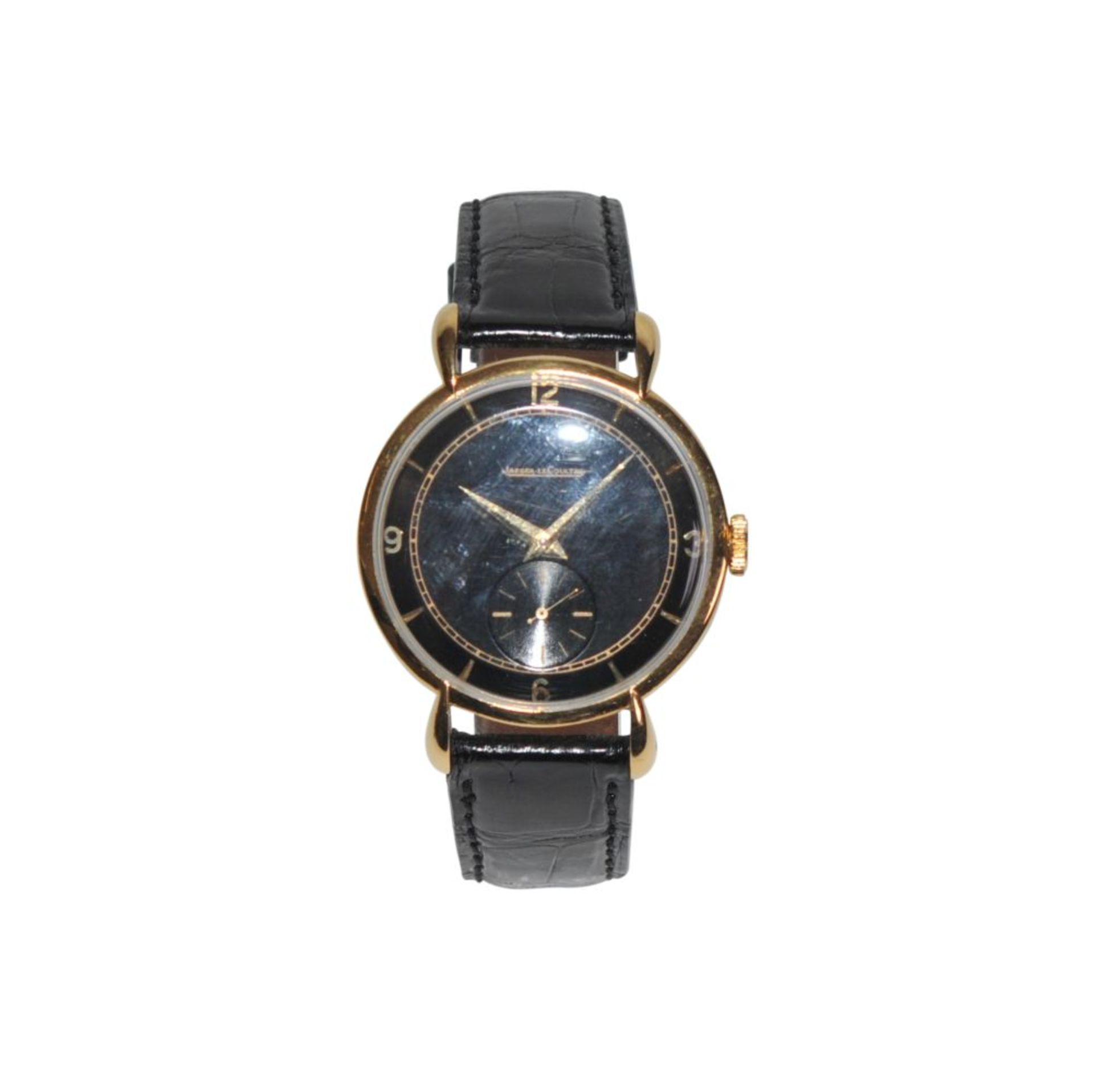Los 7 - Jaeger le Coultre Vintagebeautiful men's watch 36 mm with black dial, manual winding with JLC