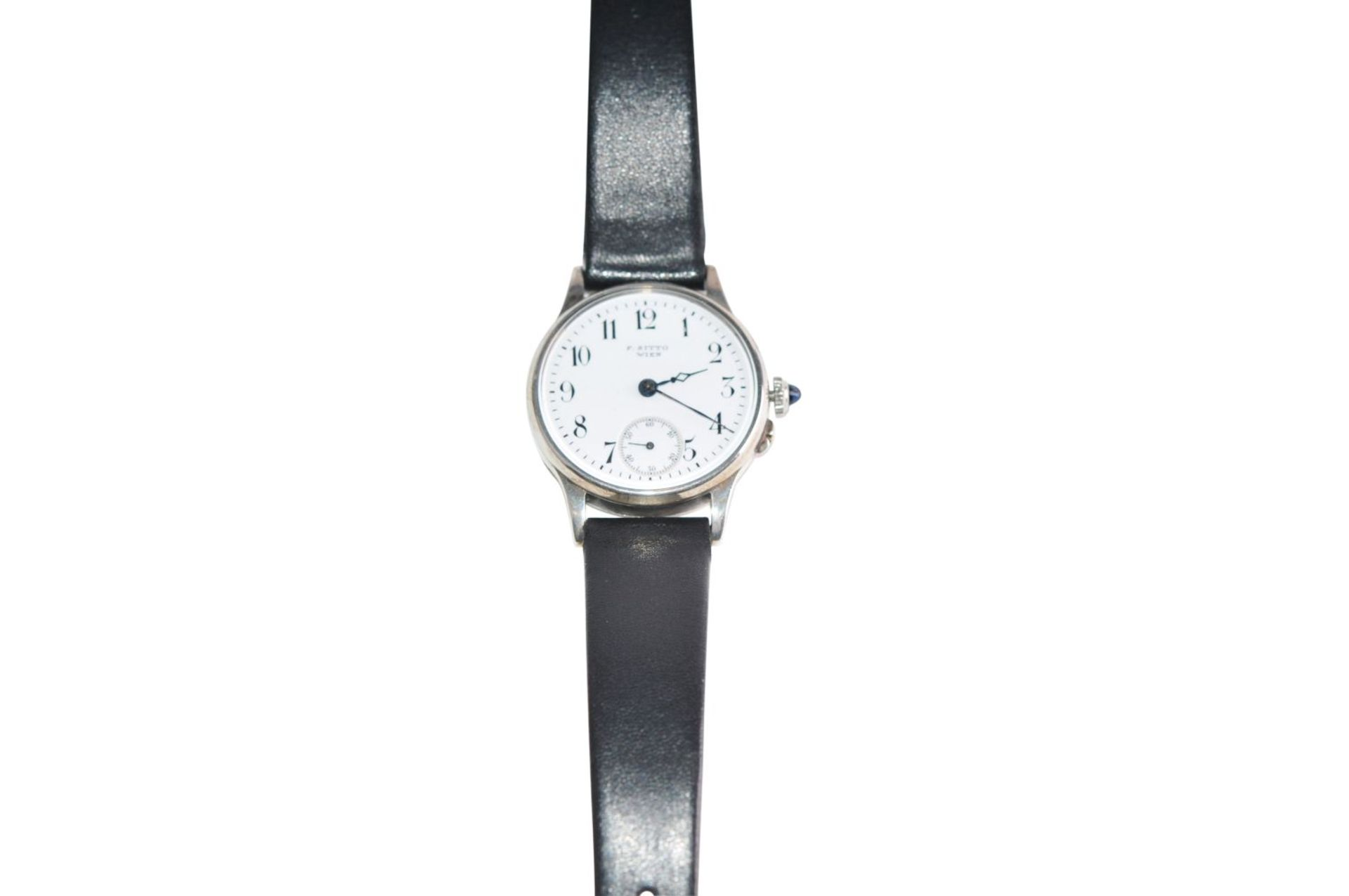 Los 55 - Sitto WienVintage steel men's watch from the 40s enamel dial, manual winding, auxiliary secondsSitto