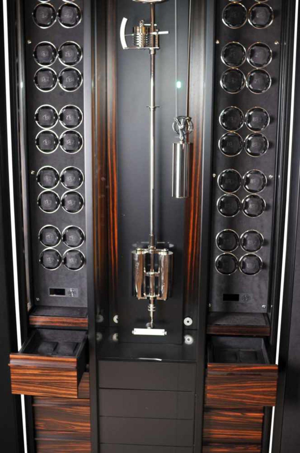 Los 56 - Time Mover Buben & Zörweg Grande Precision48 watch winders, handmade case in black silk matt with