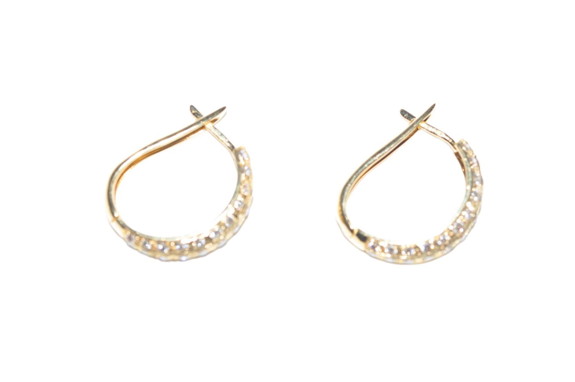 Los 101 - EarringsStud earrings in 750/000 gold, with diamonds, approx. 1.1ct, total weight 4.