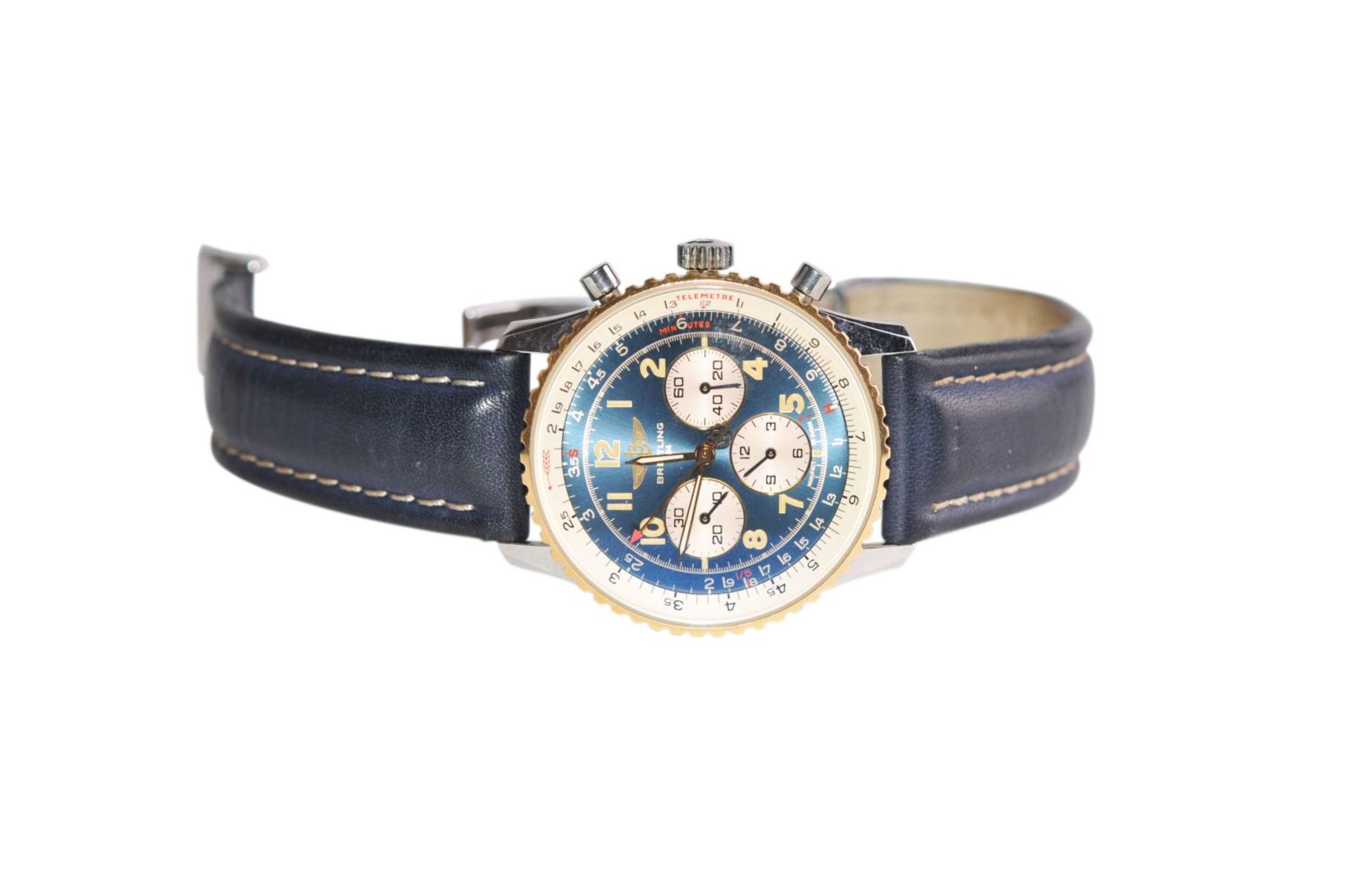 Los 19 - Breitling Navitimer38 mm Breitling Navitimer steel gold automatic with chronograph, sapphire
