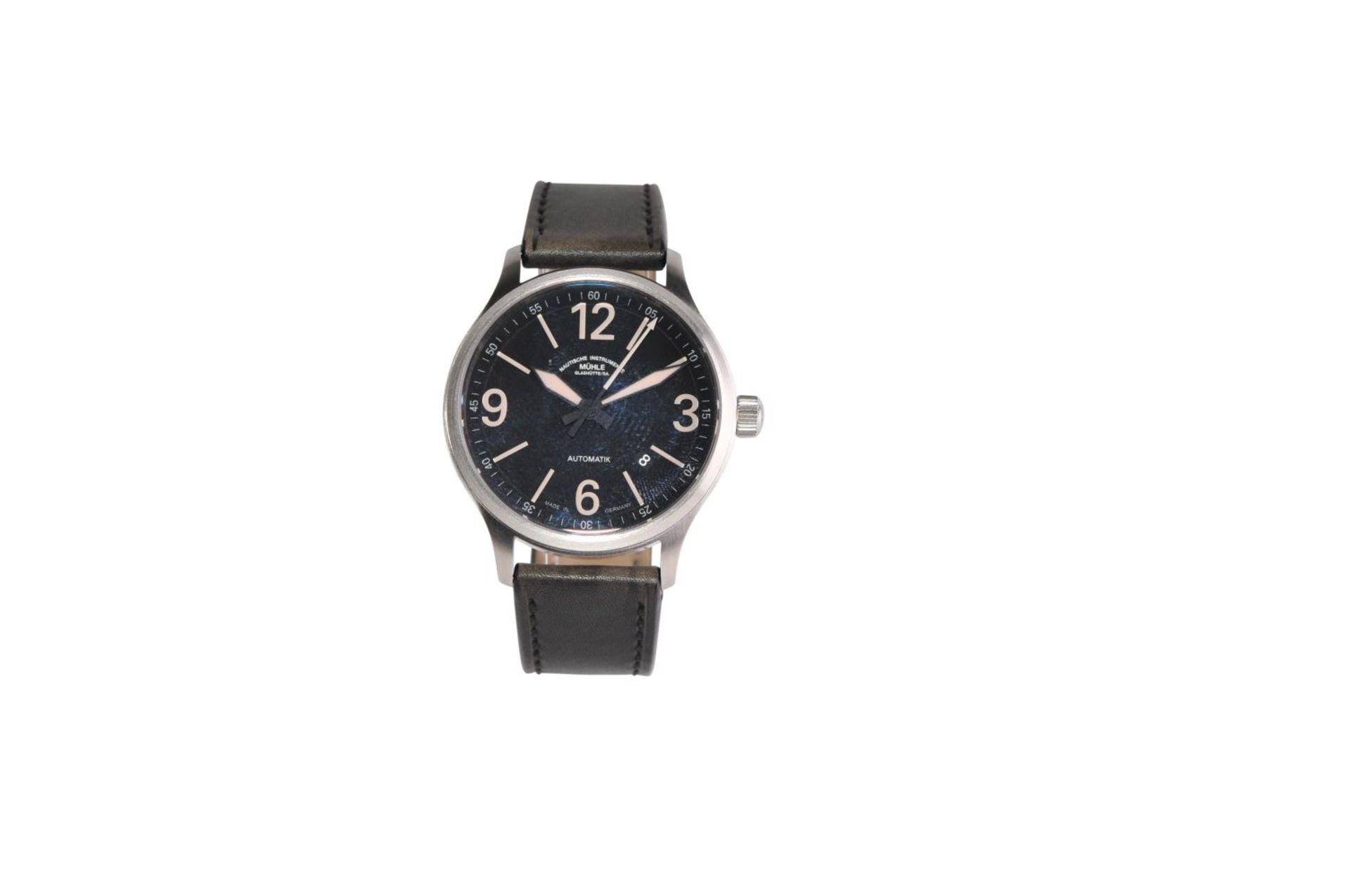 Los 50 - Mühle / Glashütte Terranaute III TrailAutomatic men's watch, steel case, sapphire crystal, anti-