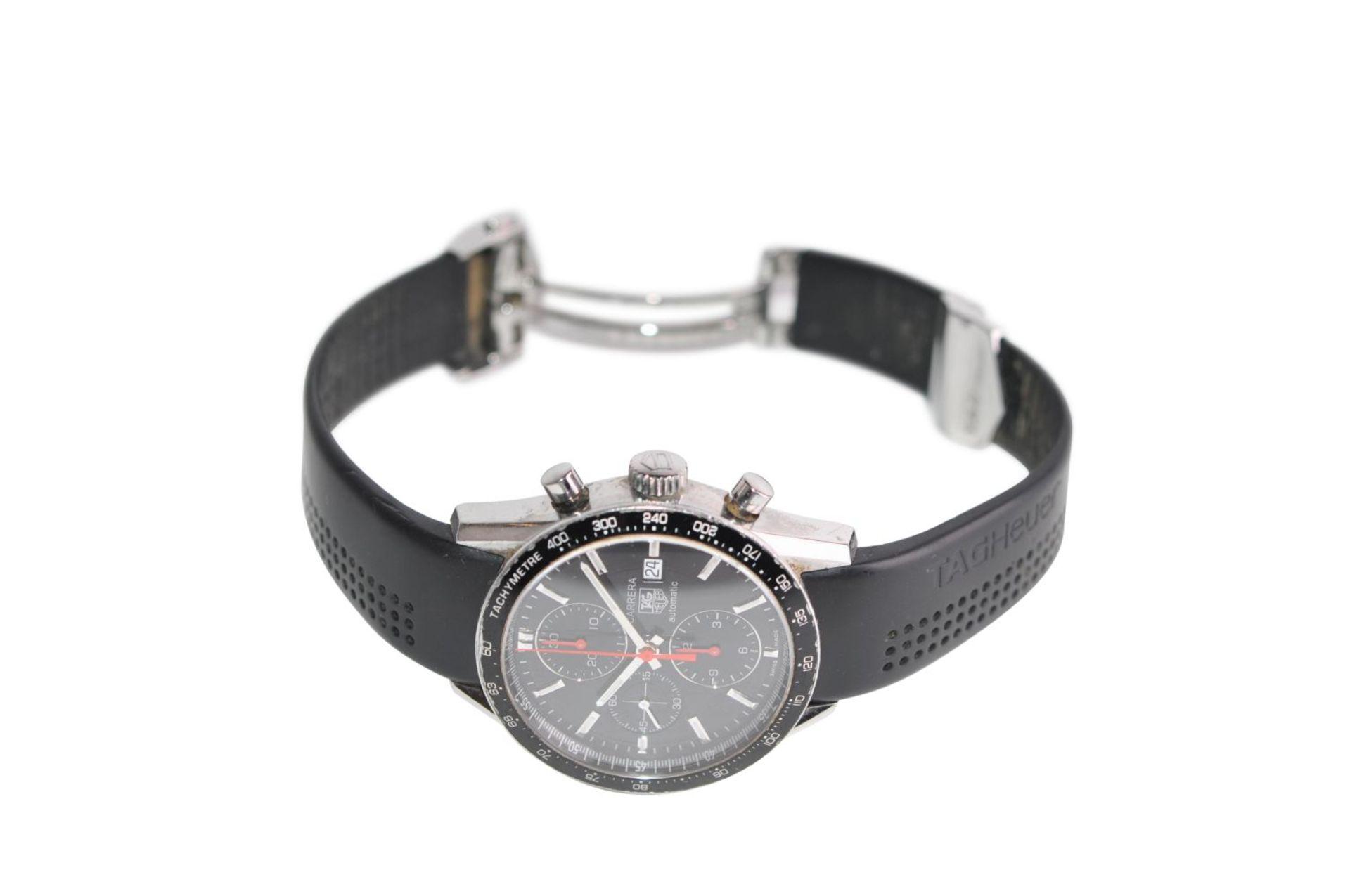 Los 44 - Tag Heuer Carrera41mm automatic TAG Heuer steel watchModel: Carrera Caliber 16 Chronograph